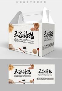书法笔触五谷杂粮包装盒设计