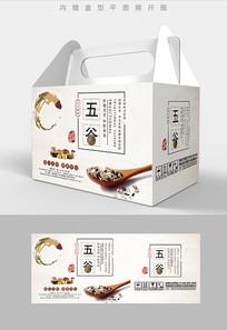 水墨飞白五谷杂粮包装设计