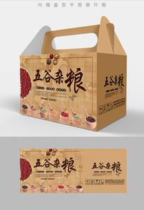 中国风复古五谷杂粮包装盒设计