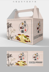 竹林特产五谷杂粮包装设计