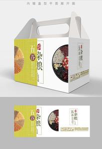 自然之选五谷杂粮包装礼盒设计PSD