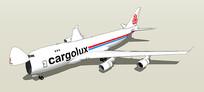 波音747飞机SU模型