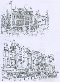 阿姆斯特丹街景线描
