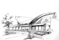 创意建筑线描
