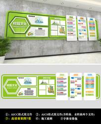绿色清新学校文化墙