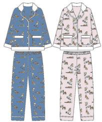 珊瑚绒睡衣家居服款式图设计