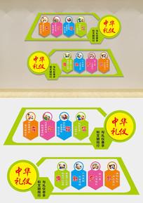 中小学幼儿园校园礼仪文化形象墙