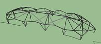 组合型棚架SU模型