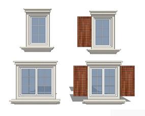 北欧风窗户模型
