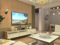 客厅小户型3D模型