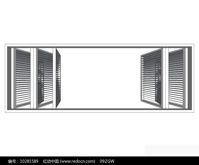 木格窗户模型图片