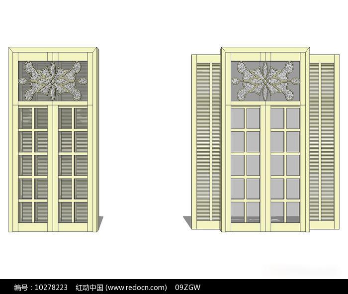 欧式雕花窗户模型图片