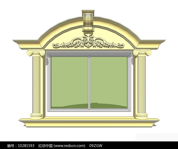 欧式浮雕窗户图片