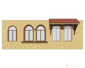 欧式立面窗户模型
