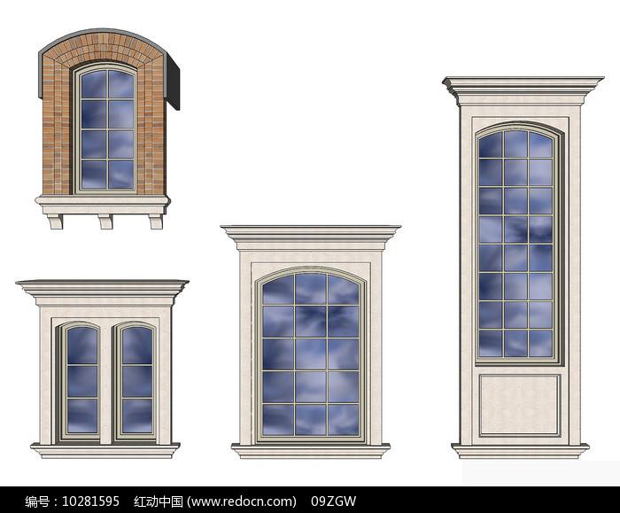 欧式立面石材窗户图片