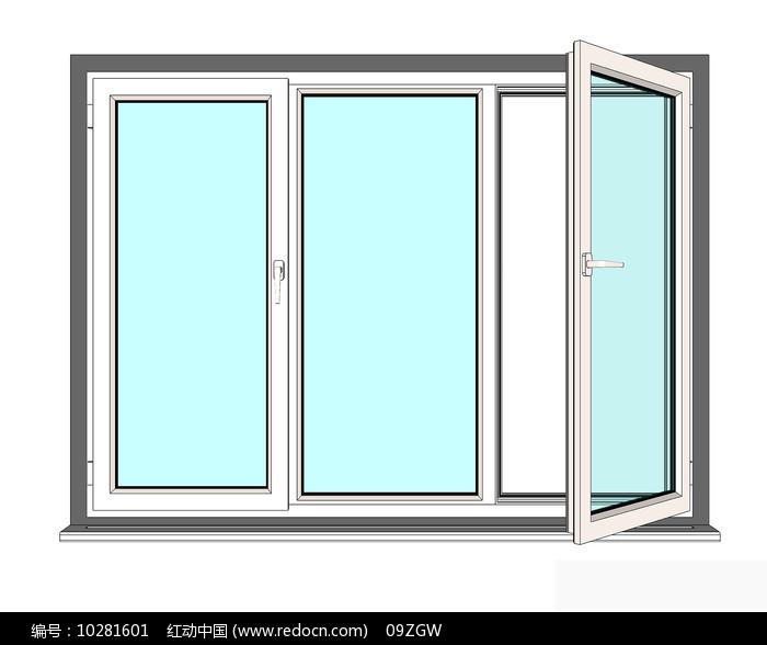 现代极简窗户模型图片