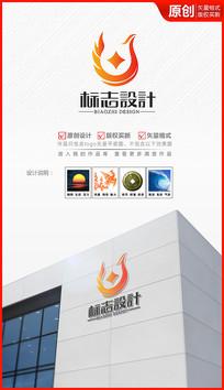 凤凰财富铜钱logo设计金融商标标志