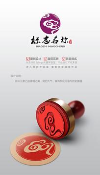 行云流水祥云logo设计商标