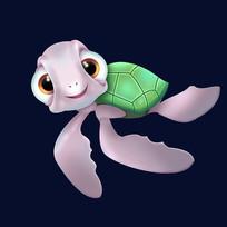 原创插画海洋生物海龟