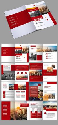 红色大气通用企业画册设计