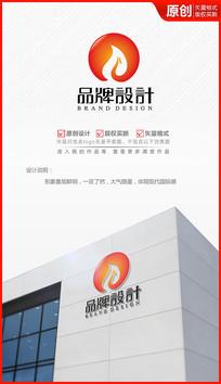 火焰凤凰logo设计商标标志设计