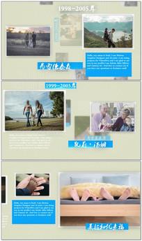 温馨家庭时间线相册视频模板