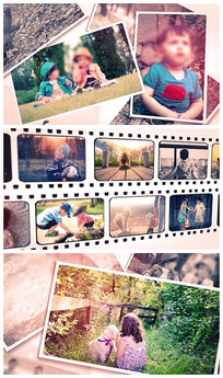 51图温馨照片纪念册AE模板