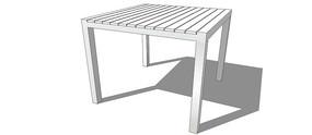 白色木桌SU模型