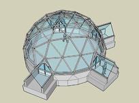 玻璃穹顶建筑模型