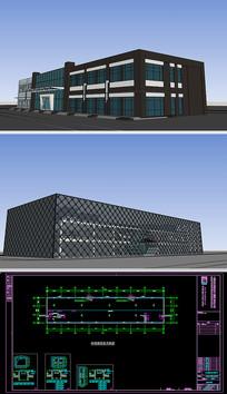 饭店建筑SU模型含CAD图