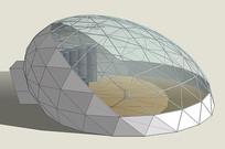 拱顶建筑模型