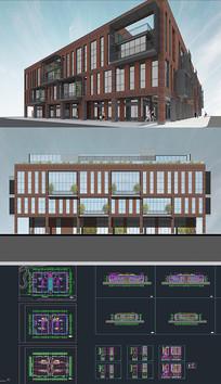 建筑商业改造项目SU模型