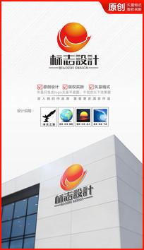 科技大雁飞鹭logo设计商标标志设计