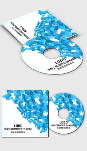 蓝色科技数码IT行业光盘封面设计模板