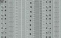 现代灰色北欧简约民族几何地毯图案设计