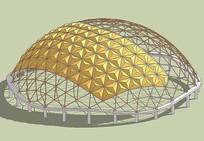 圆顶建筑模型