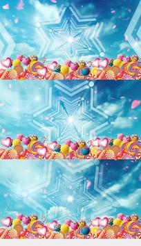 六一儿童节欢乐糖果卡通背景视频