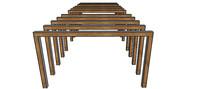 木质凉棚架SU模型