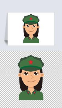 卡通女党员头像