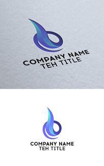 渐变色火焰状logo