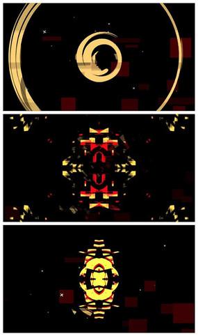 信号干扰logo标志视频模板
