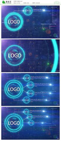 蓝色科技信息展示模板视频模板
