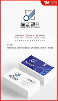 抽象科技翅膀logo设计商标标志