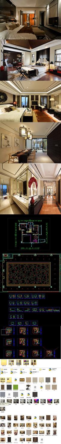 别墅设计CAD施工图+效果图+3D