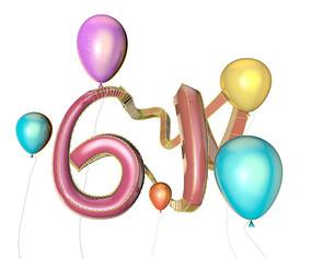 61气球立体字