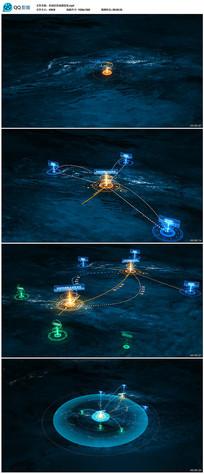 科技区地图定位AE模板