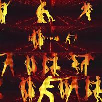 跳舞人物剪影移动视频素材