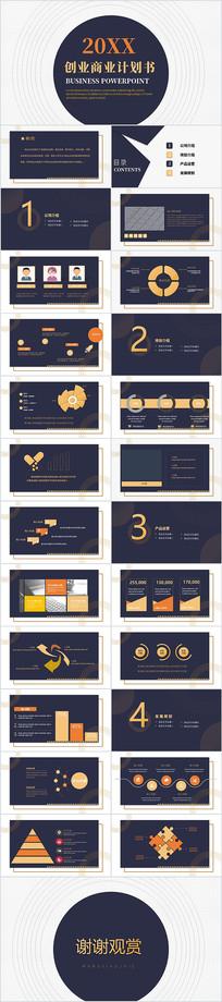 创业计划书项目融资商业计划书PPT模板