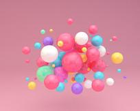 儿童节彩色海洋球气球元素