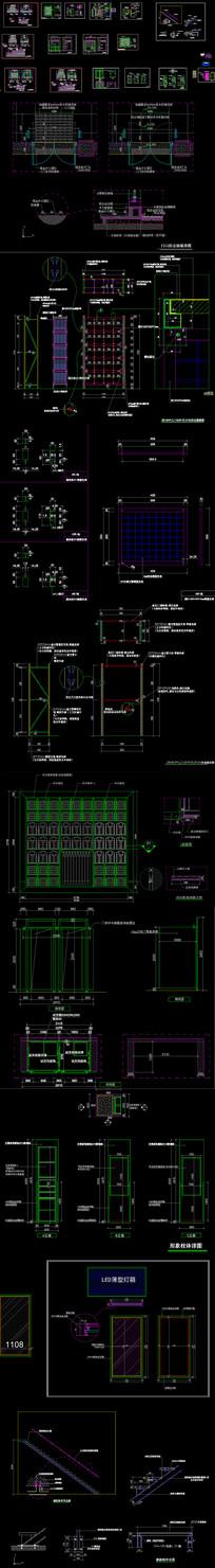 服裝店cad道具設計圖庫